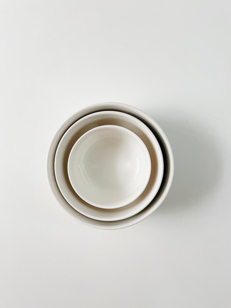 Conjunto de Refratários Listo de Porcelana com Tampa - 3 Peças  - CASACOBRE