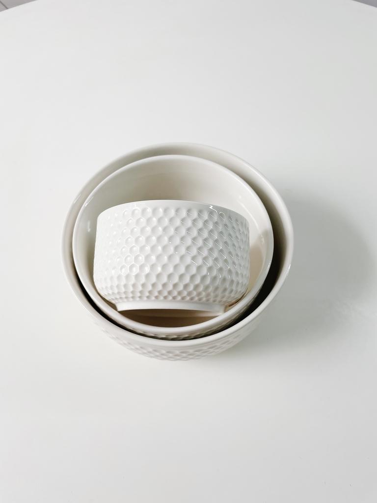 Conjunto de Refratários Martelado de Porcelana com Tampa - 3 Peças  - CASACOBRE