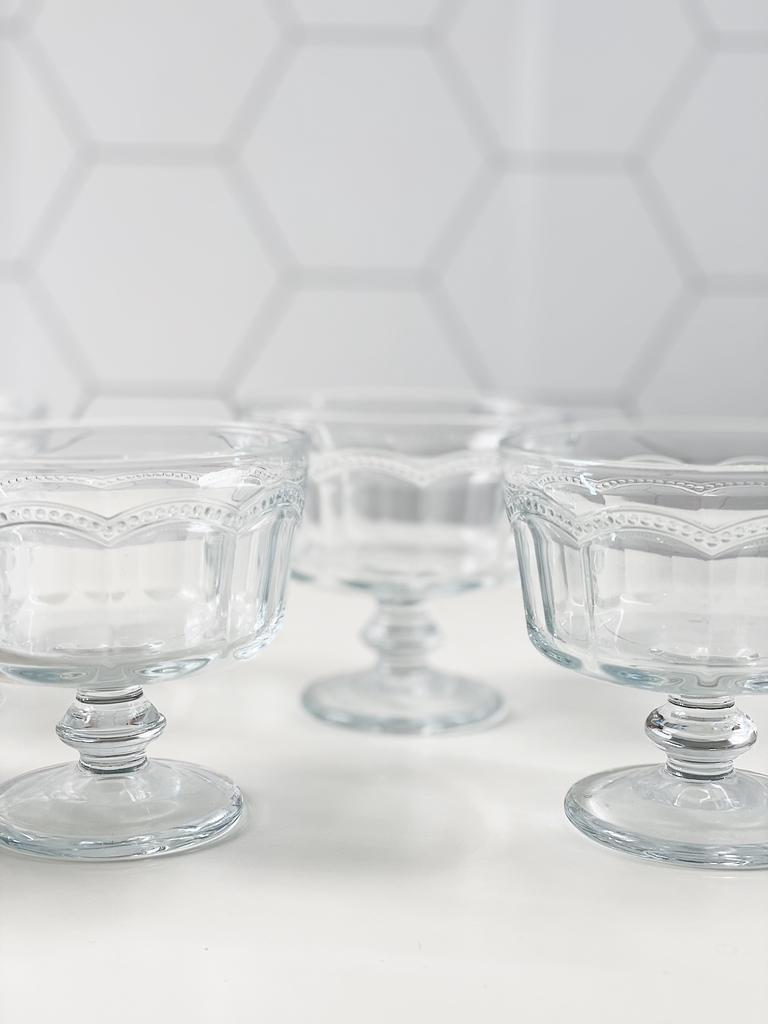 Conjunto de Taças Tim para Sobremesa de Vidro 200ml - 6 Peças  - CASACOBRE