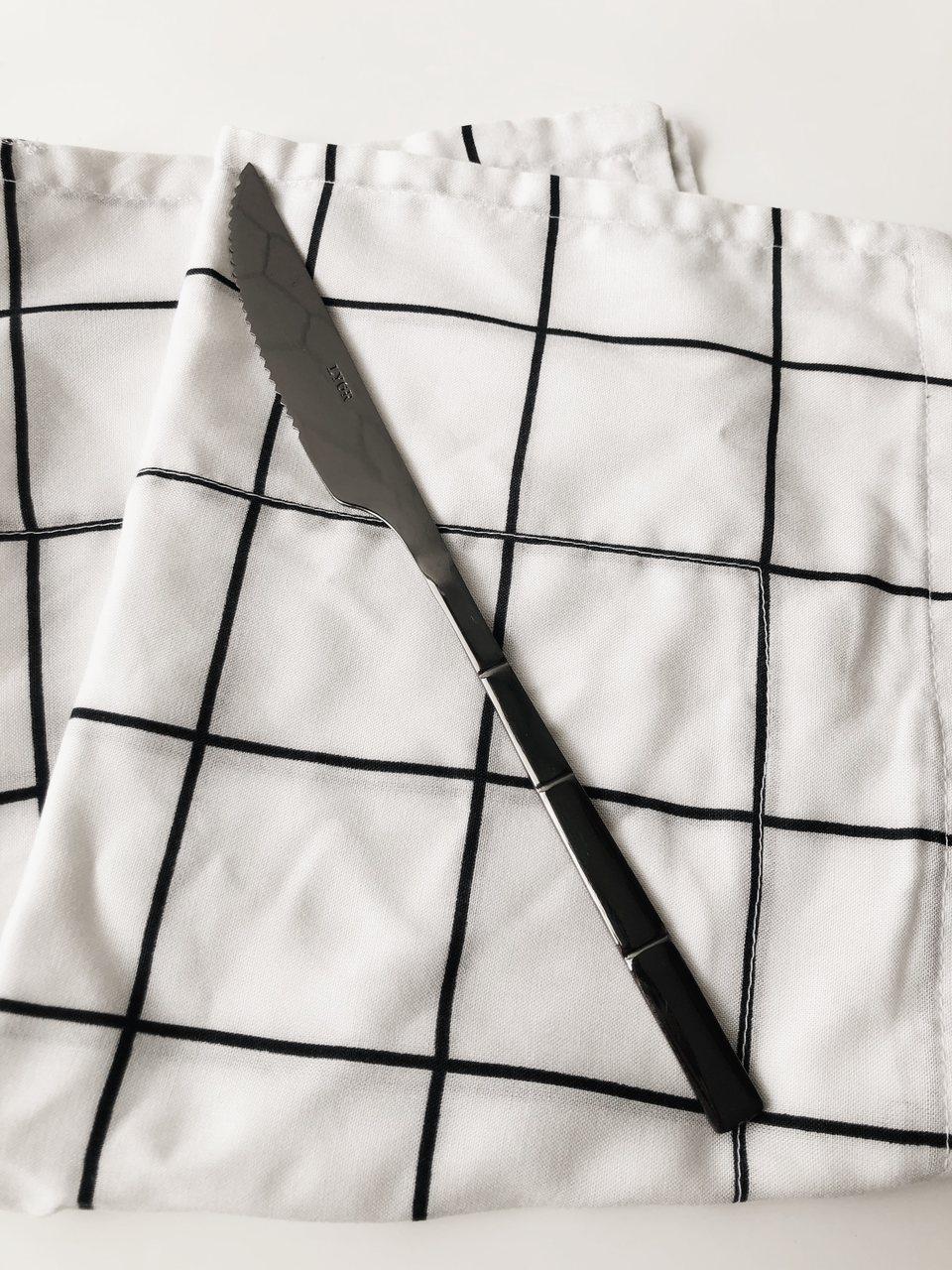 Faca de Mesa Bambu Black  - CASACOBRE