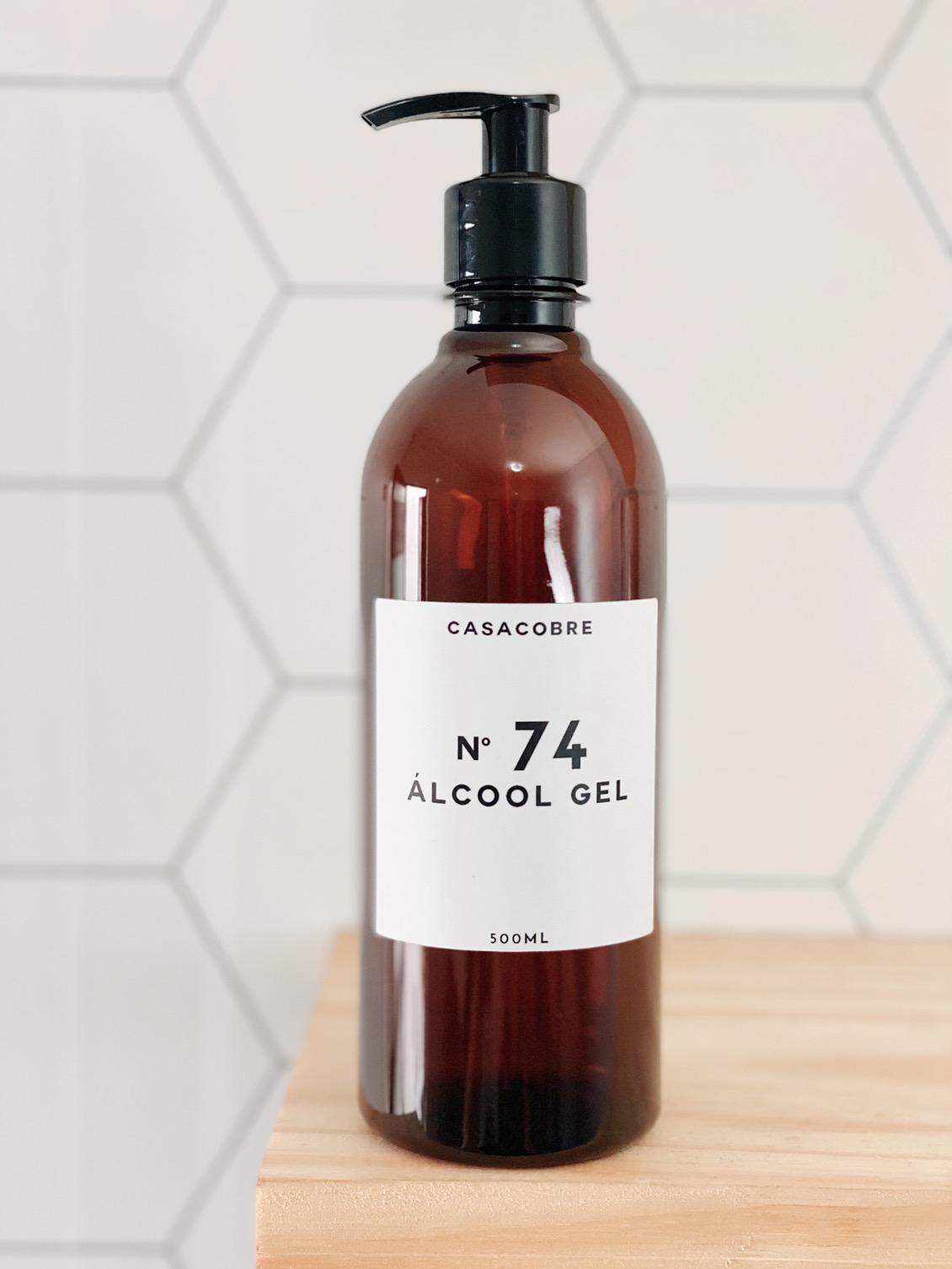 Frasco Âmbar Álcool Gel - 500ml  - CASACOBRE