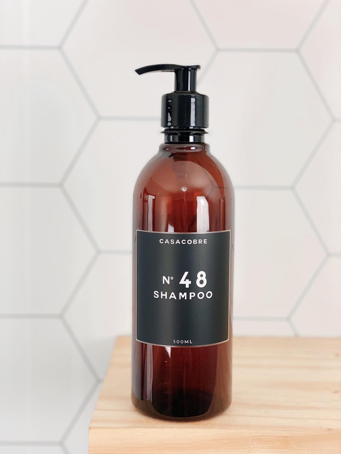 Frasco Âmbar Shampoo - 500ml  - CASACOBRE