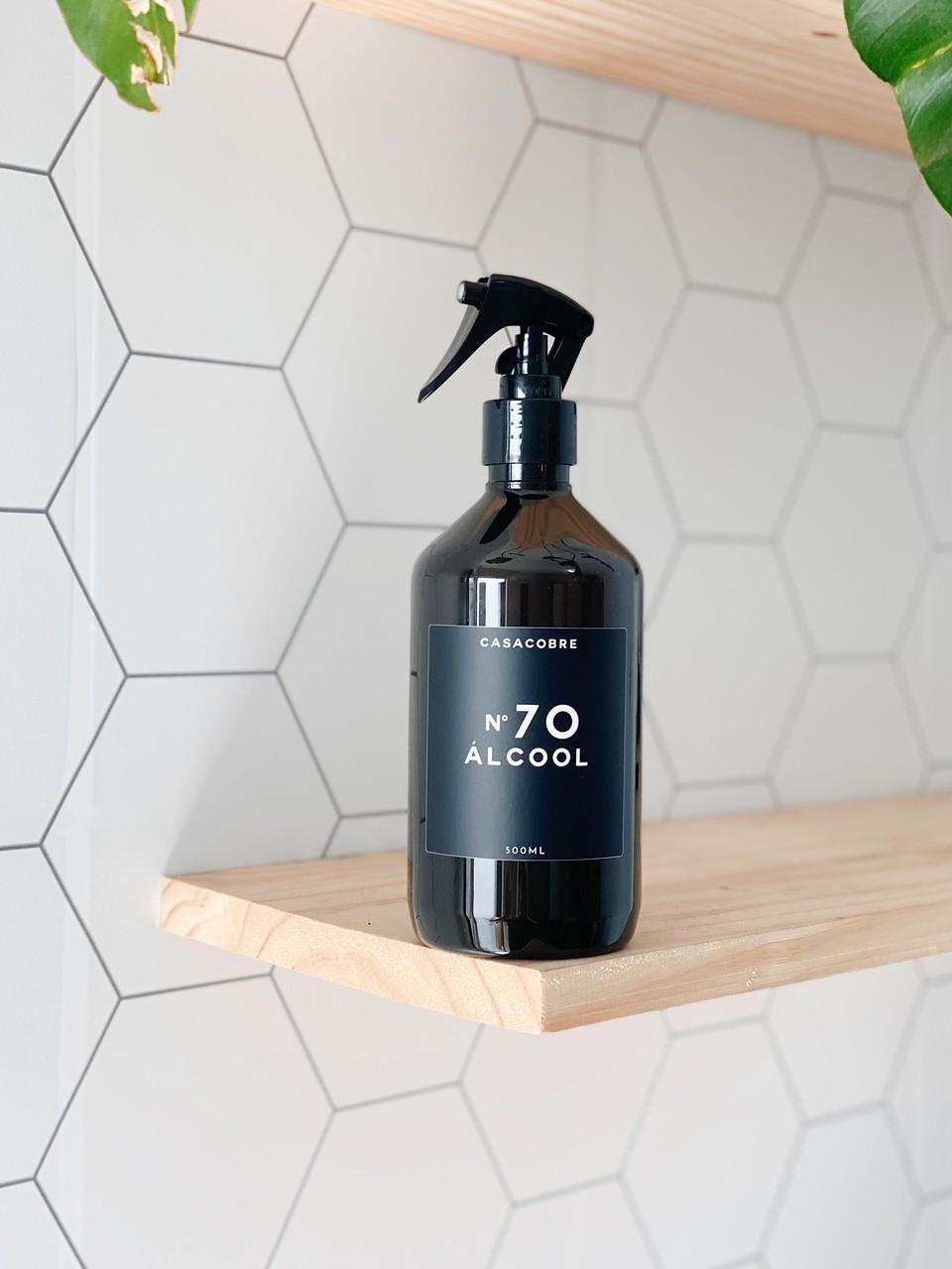Frasco Black Álcool - 500ml  - CASACOBRE