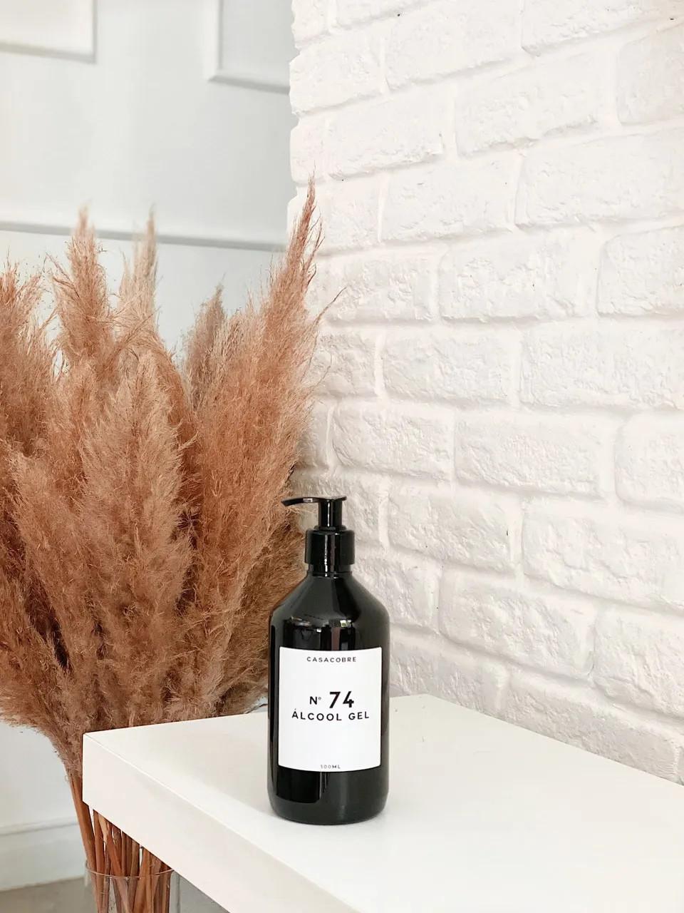 Frasco Black Álcool Gel - 500ml  - CASACOBRE