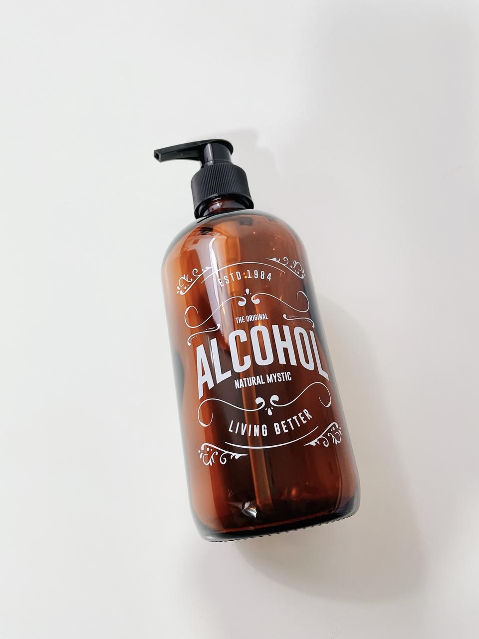 Frasco de Vidro Álcool - 490ml  - CASACOBRE
