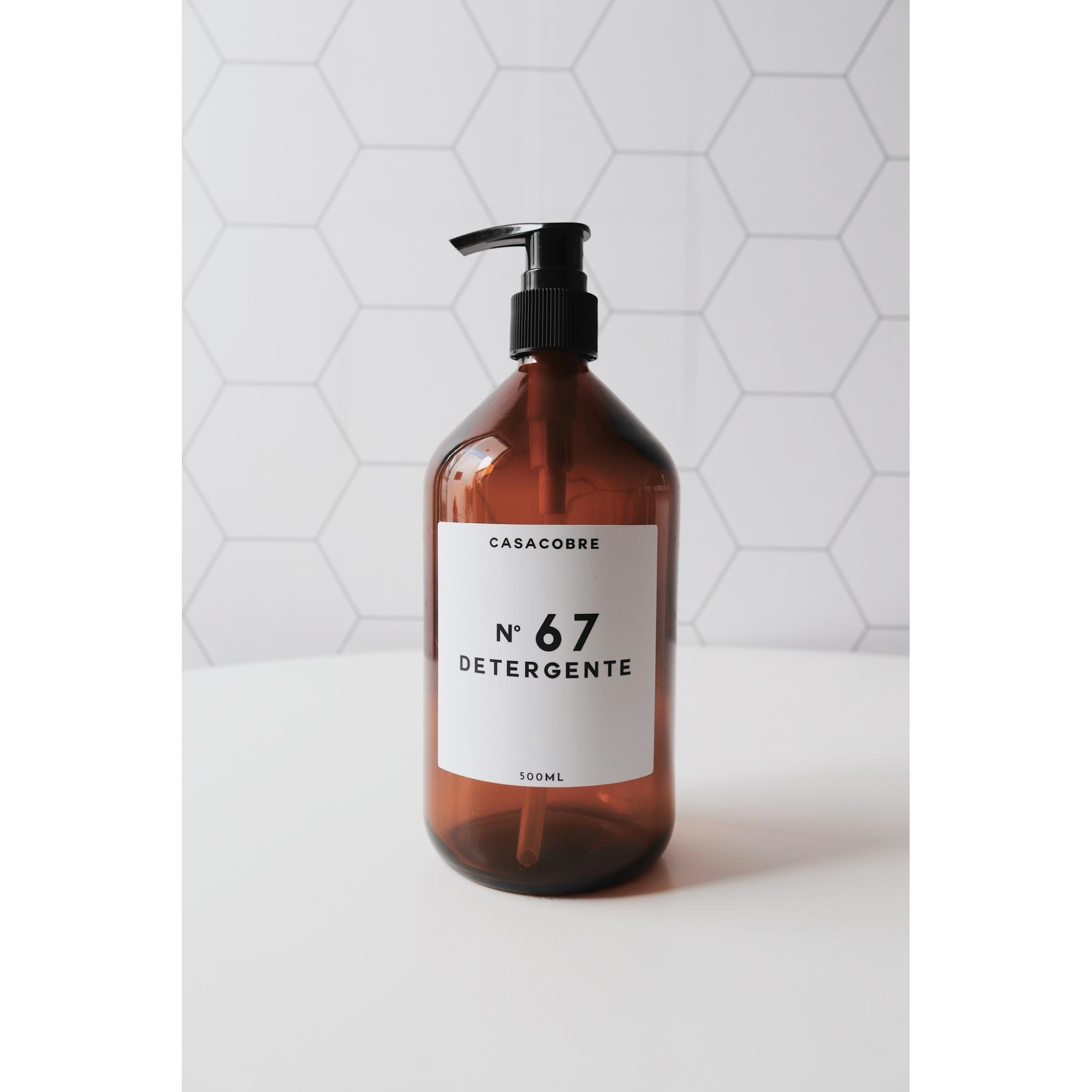 Frasco Vidro Detergente - 500ml  - CASACOBRE