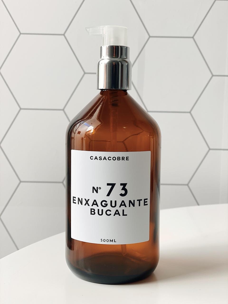 Frasco Vidro Enxaguante Bucal - 500ml  - CASACOBRE
