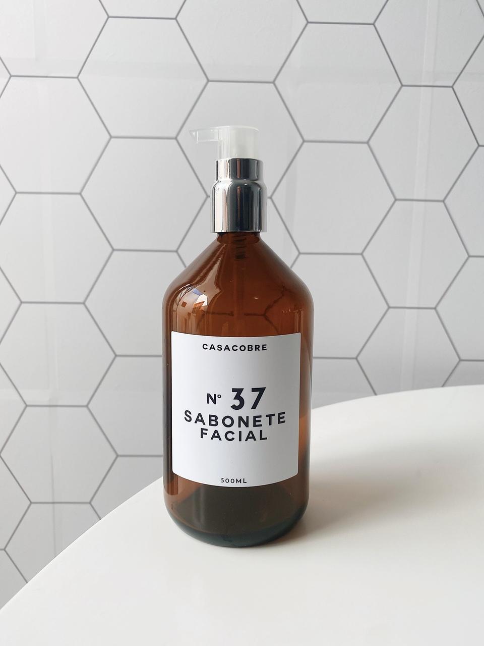 Frasco Vidro Sabonete Facial - 500ml  - CASACOBRE