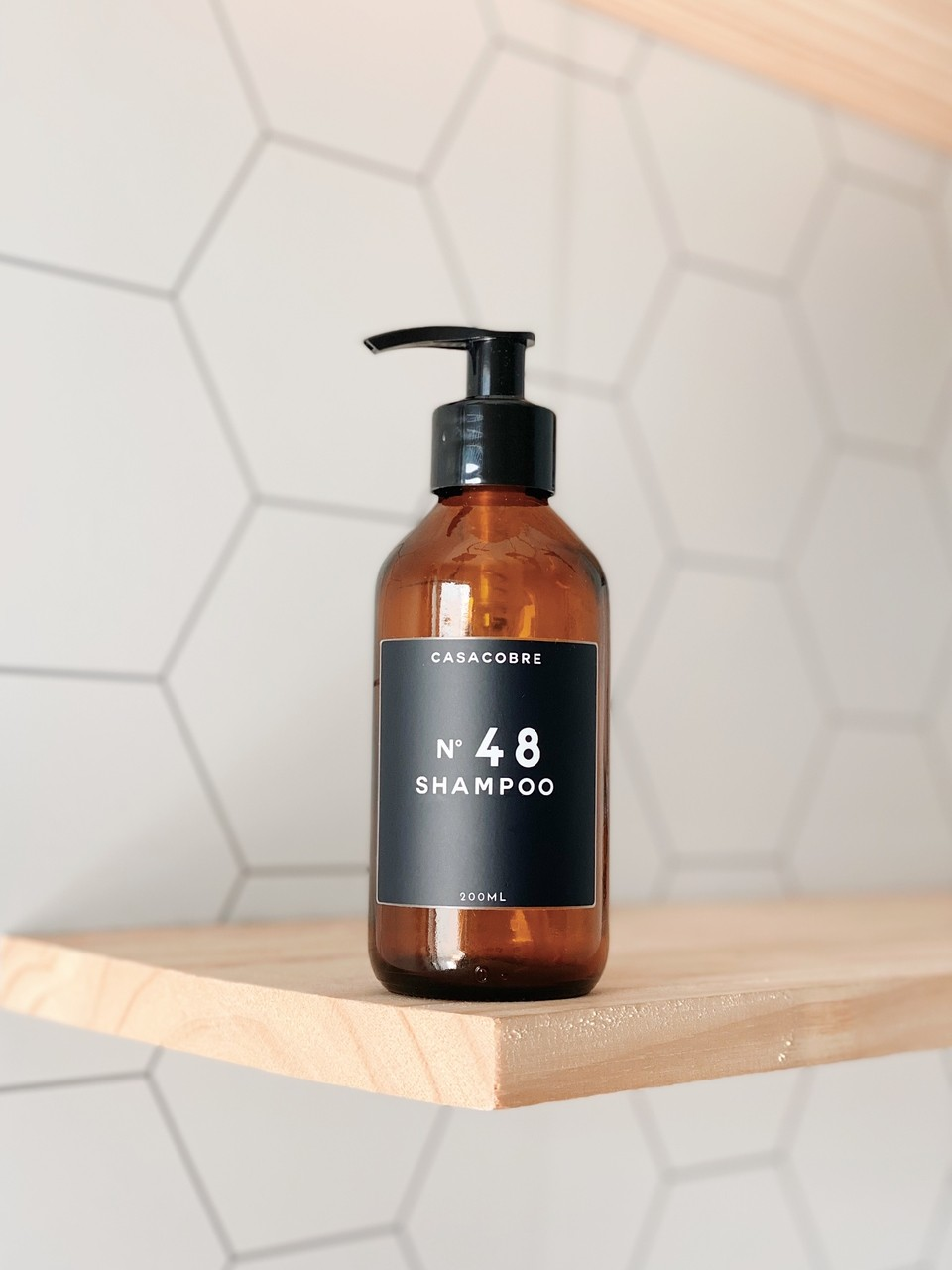 Frasco Vidro Shampoo - 200ml  - CASACOBRE