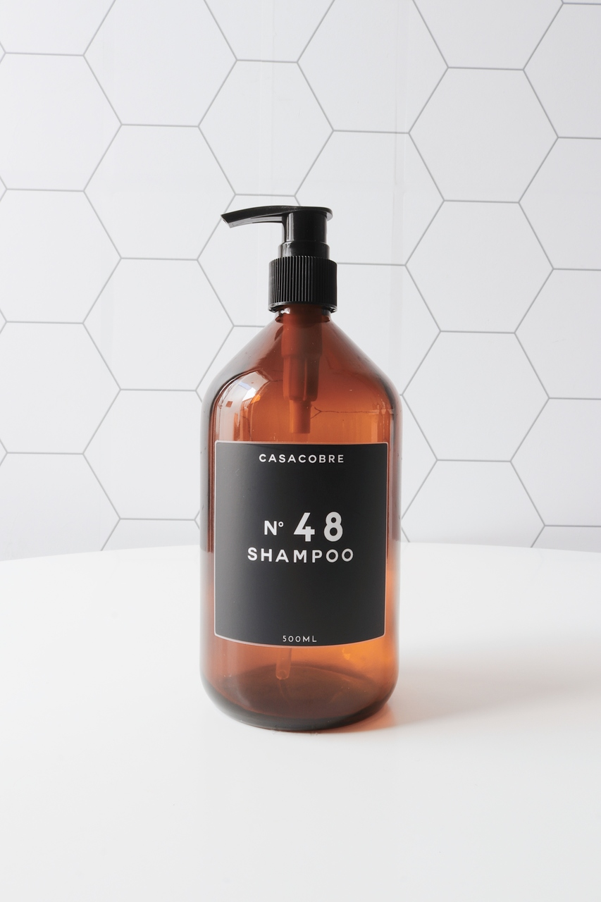 Frasco Vidro Shampoo - 500ml  - CASACOBRE