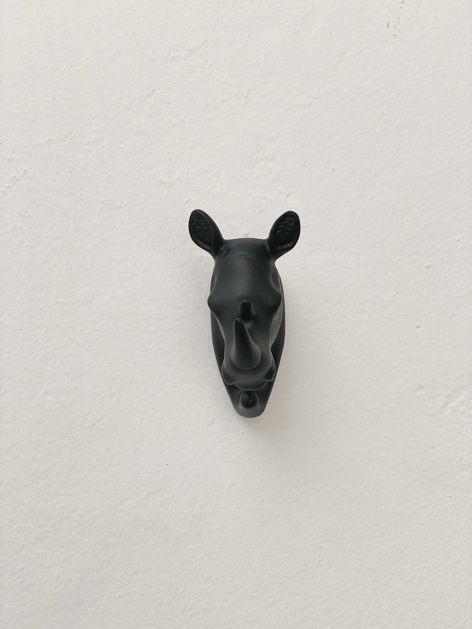 Gancho de Parede em Resina - Rinoceronte  - CASACOBRE