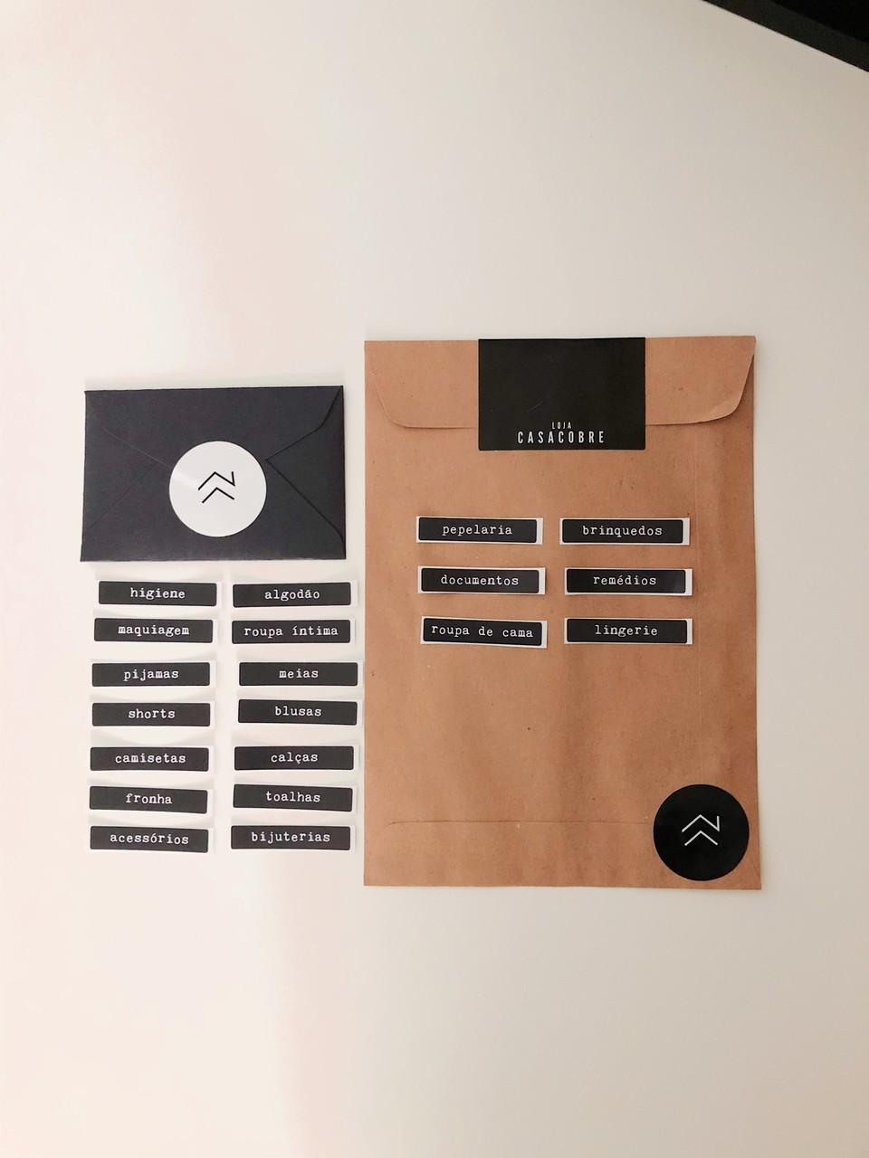 Kit 15 Rótulos Padronizado - Organização  - CASACOBRE