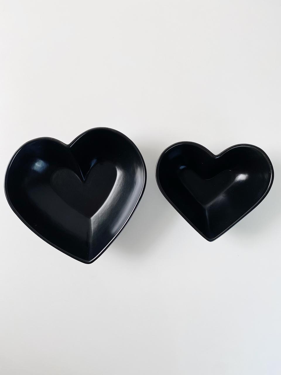 Kit Bowls de Coração em Cerêmica - 2 Peças  - CASACOBRE
