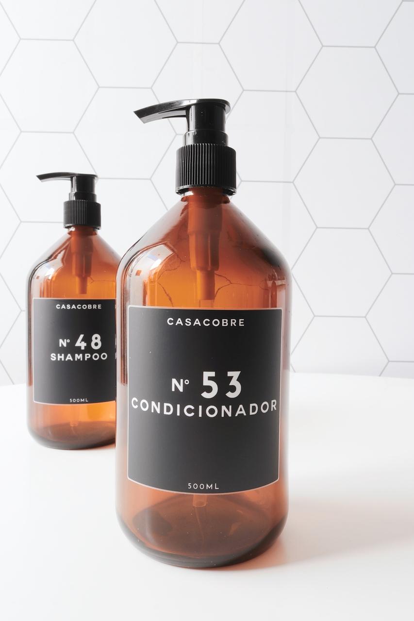 Kit Frasco Vidro Banheiro 500ml - 2 Peças  - CASACOBRE