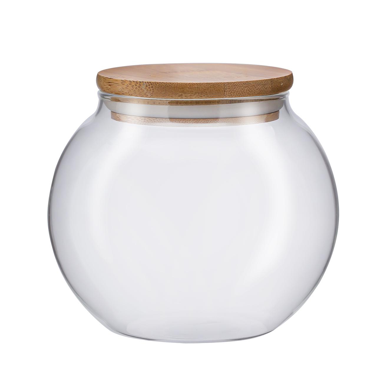 Kit Pote Hermético com Tampa de Bambu - 3 Peças  - CASACOBRE