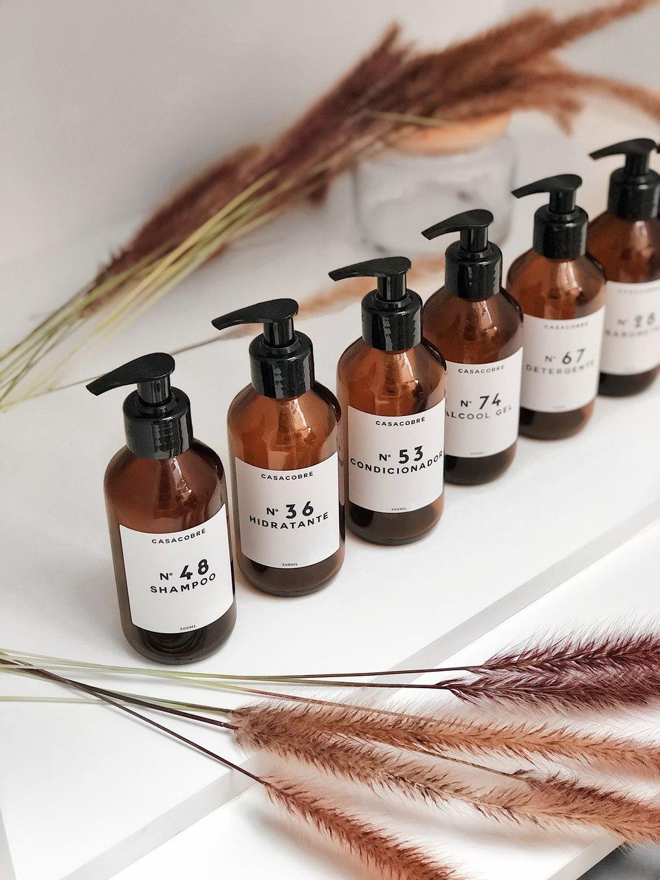 Kit Vidro Shampoo e Condicionador - 200ml  - CASACOBRE