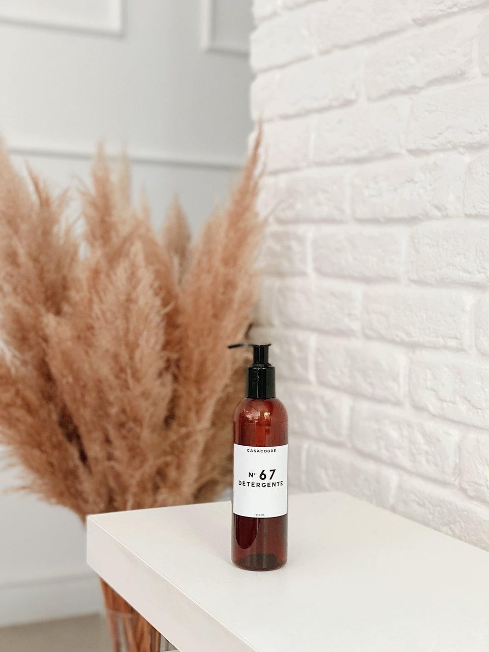 Mini Frasco Âmbar Detergente - 240ml  - CASACOBRE