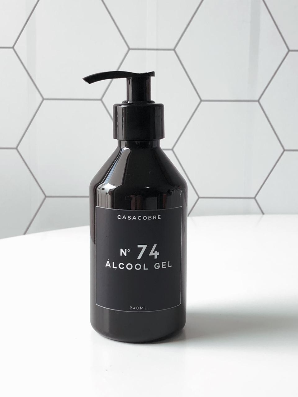 Mini Frasco Black Álcool Gel - 240ml  - CASACOBRE