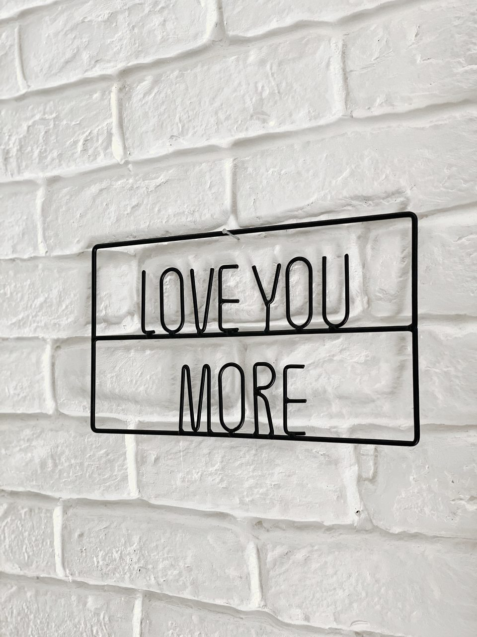 Placa Love You More  - CASACOBRE