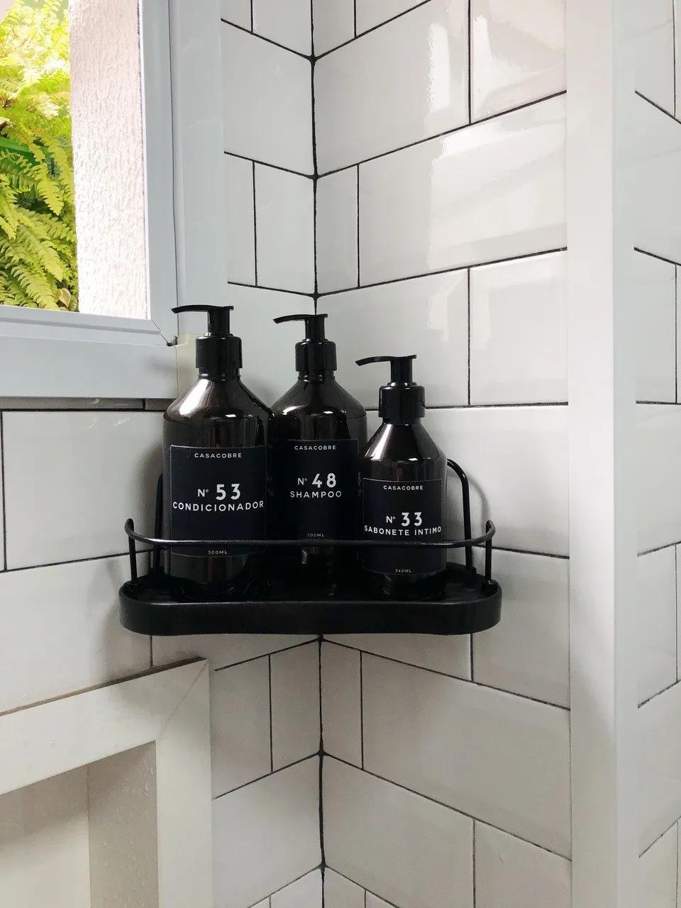 Porta Shampoo de Canto  - CASACOBRE
