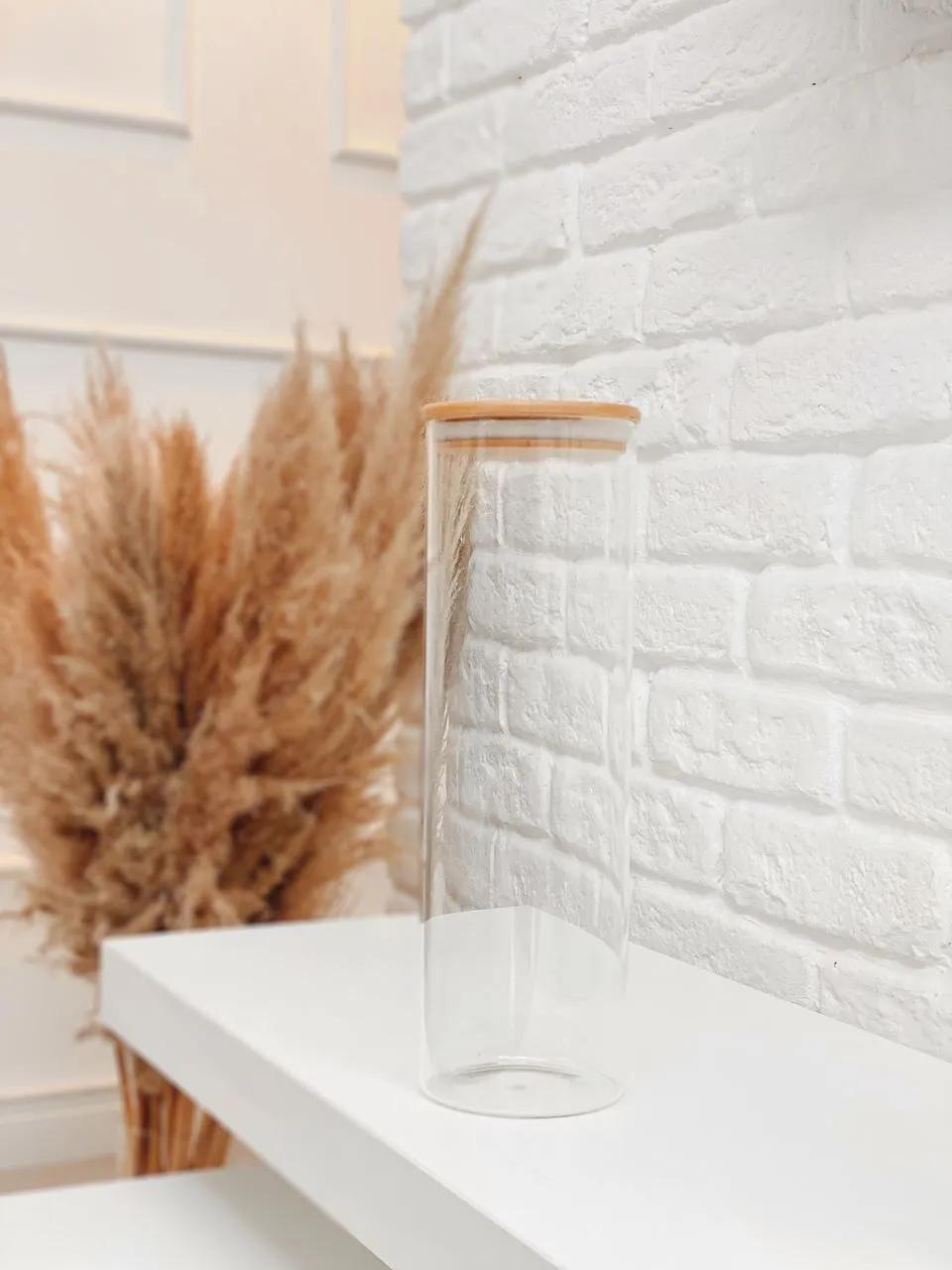 Pote de Vidro com Tampa de Bambu - 2L  - CASACOBRE