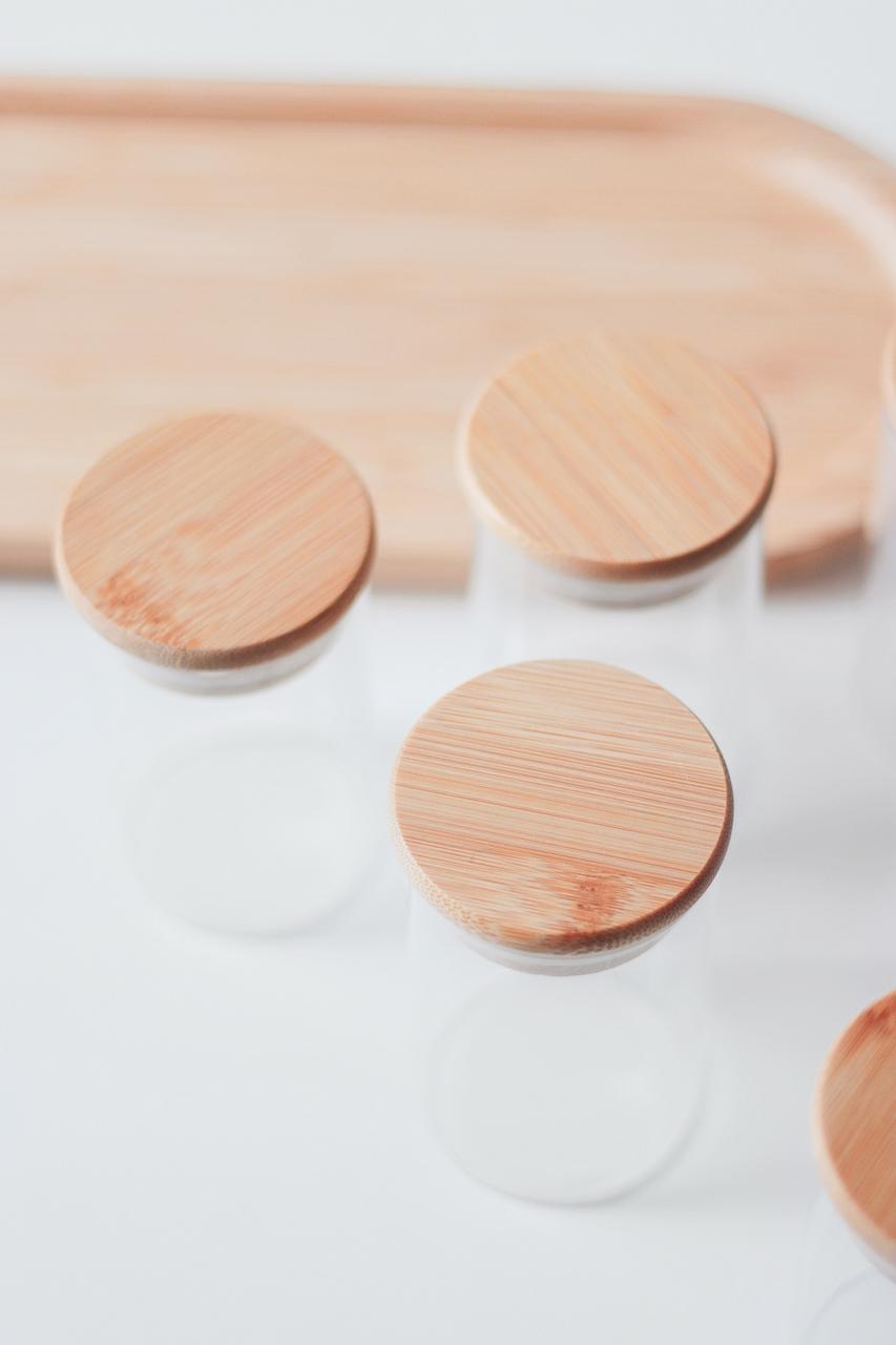 Pote Hermético com Tampa de Bambu - 110ml  - CASACOBRE