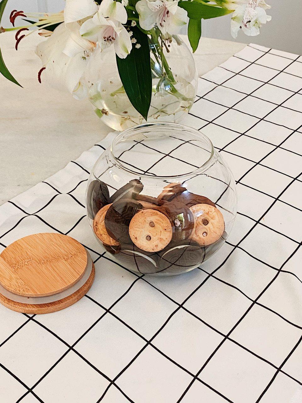 Pote Hermético com Tampa de Bambu - 1400ml  - CASACOBRE