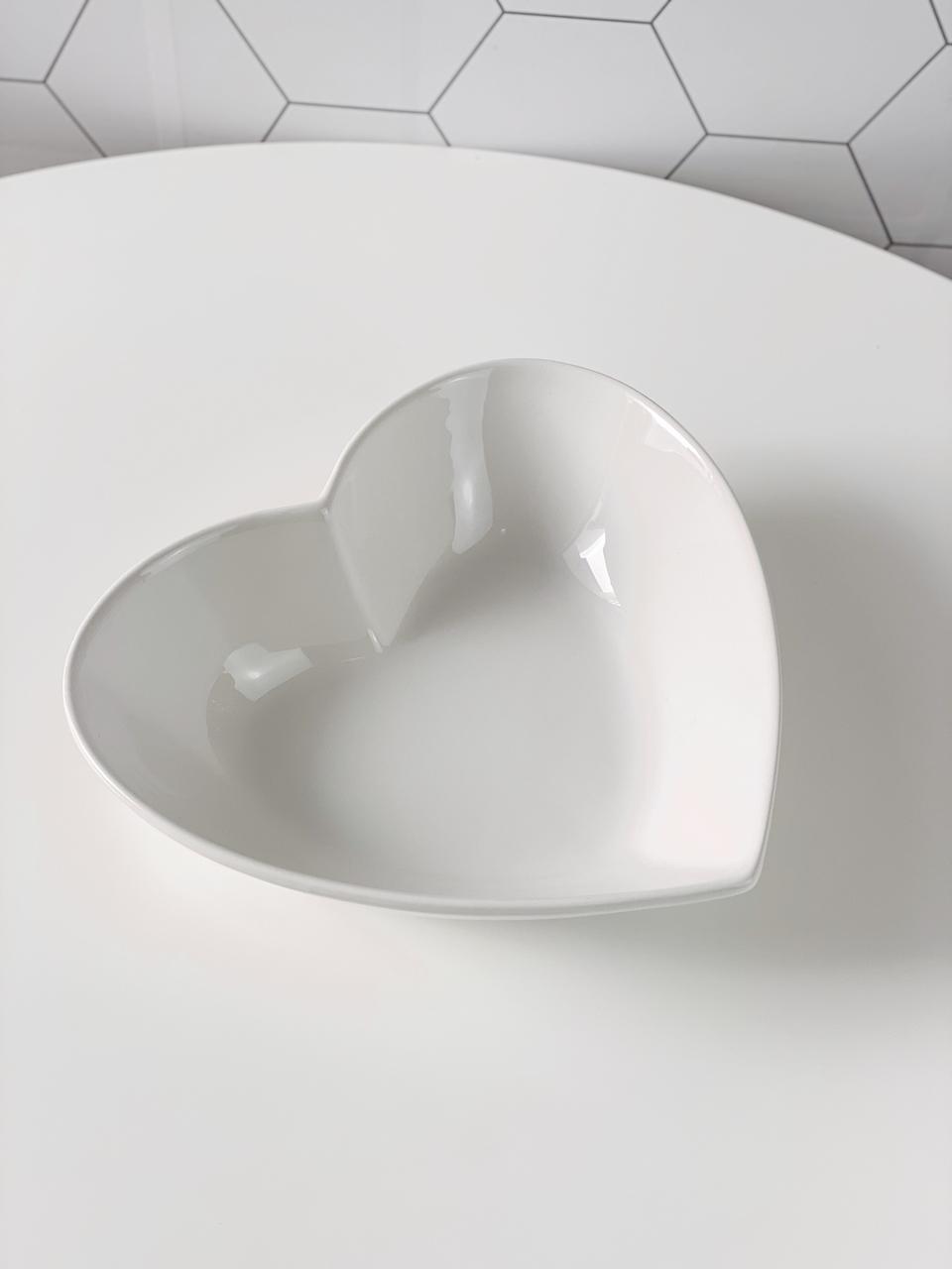 Travessa de Coração em Cerâmica  - CASACOBRE