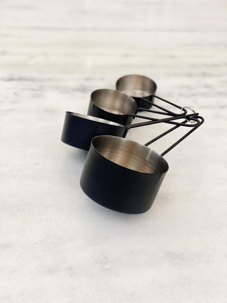 Xícaras Medidoras Black Inox - 4 Peças  - CASACOBRE