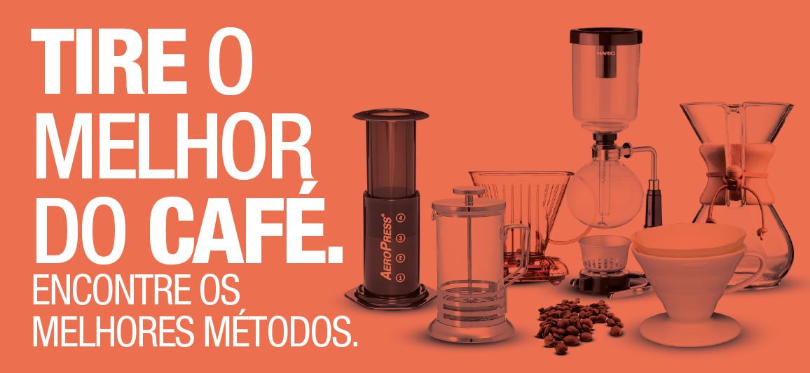 encontre aqui os melhores métodos de preparo de café.