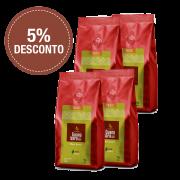 Café Guanabara Grãos Selecionados 100% Arábica - Moído - 4 pacotes de 500g