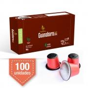 Kit 100 Cápsulas de café Guanabara gourmet compatível Nespresso