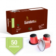 Kit 50 Cápsulas de café Guanabara gourmet compatível Nespresso