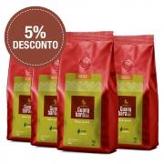 Kit Café Gourmet Guanabara grãos selecionados Sul De Minas Leve 4 pacotes 500g ganhe 5% desconto - Moído