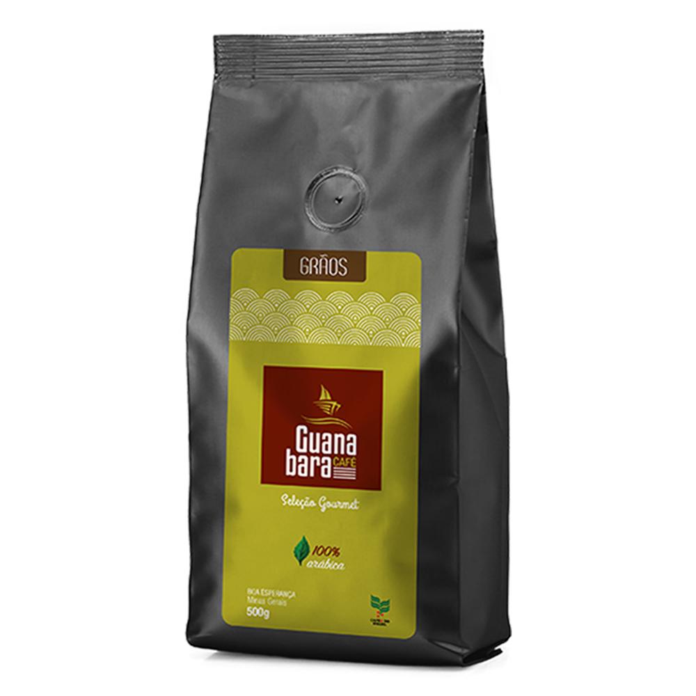 Café Guanabara Grãos Selecionados 500g 100% Arábica - Grãos