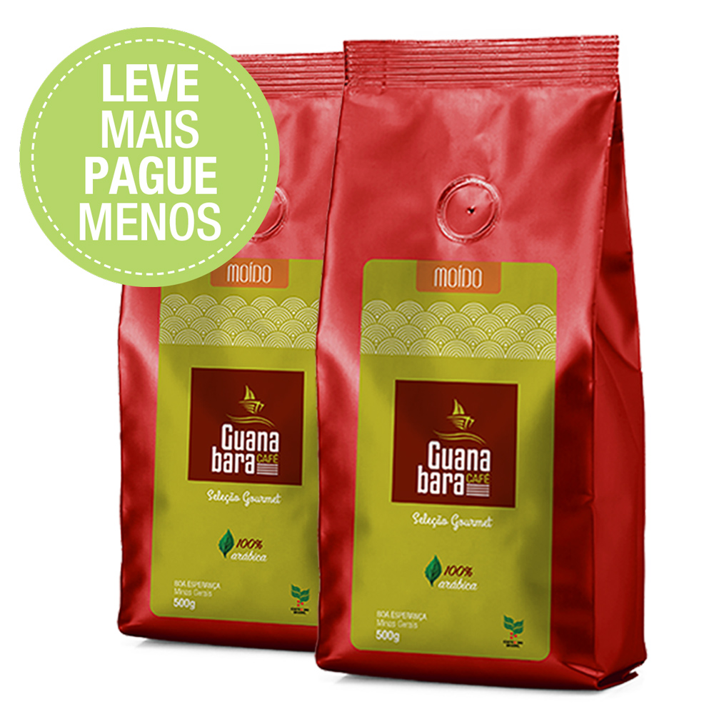 Café Guanabara Moído Select 1kg 100% Arábica Sul De Minas
