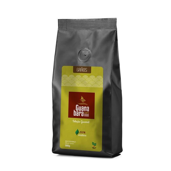 Kit Café Gourmet Guanabara grãos selecionados Sul De Minas Leve 4 pacotes 500g ganhe 5% desconto - Grãos