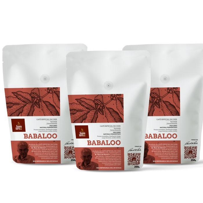 Kit Café Guanabara Edição Especial da Casa - 3 pacotes BABALOO - Sul de Minas - Boa Esperança - 750g