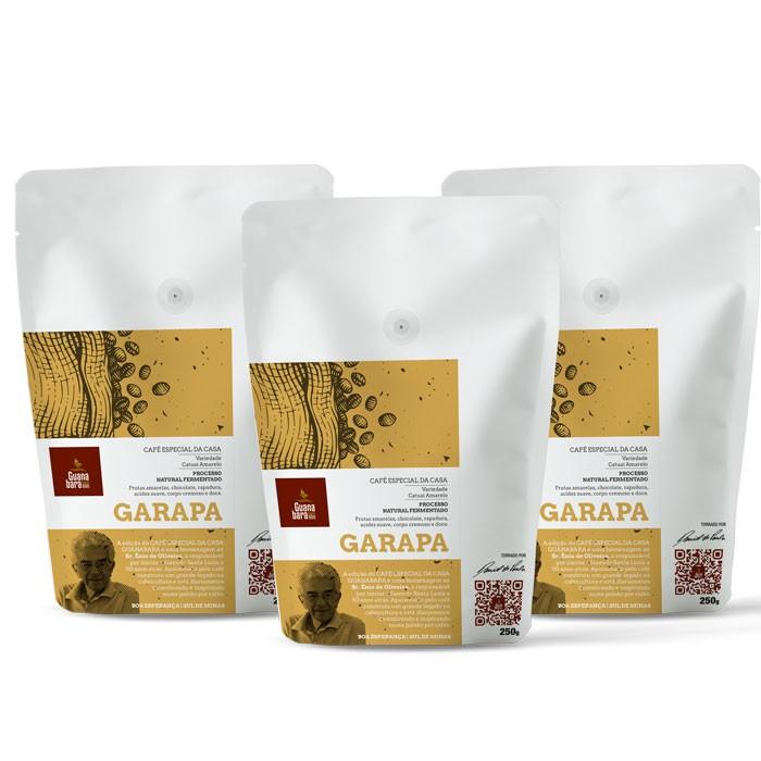 Kit Café Guanabara Edição Especial da Casa - 3 pacotes GARAPA - Sul de Minas - Boa Esperança - 750g