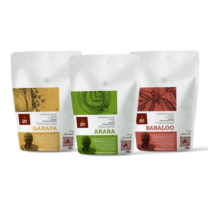 Kit Café Guanabara Edição Especial da Casa - ARARA/GARAPA/BABALOO - Sul de Minas - Boa Esperança - 750g