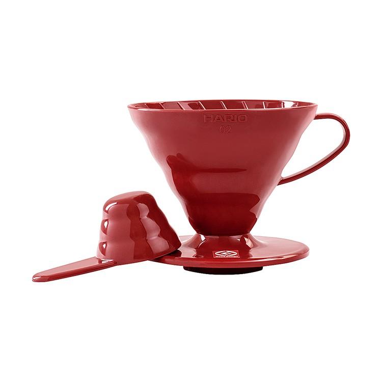 Suporte Coador De Café Hario V60 - 02 Acrílico Vermelho