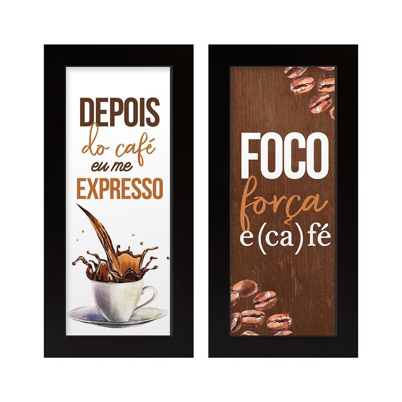 Dupla de Quadros Decorativo Café 28x23
