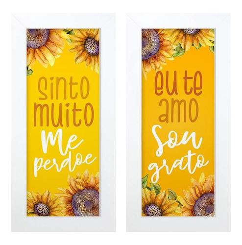 Dupla De Quadros Decorativo Sinto Muito 28x23 Hugart