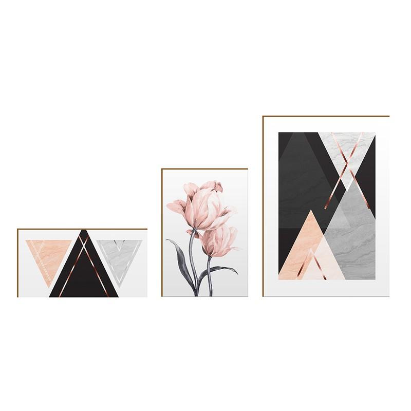 Kit 3 Quadros Decorativo Geométrico Moderno Inspiration