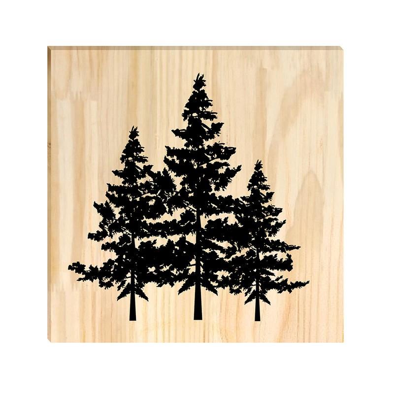 Quadro de Pinus Decorativo Pinheiros Árvores 20x20