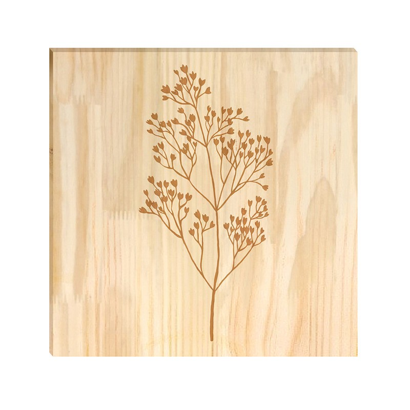 Quadro de Pinus Decorativo Ramos 30x30