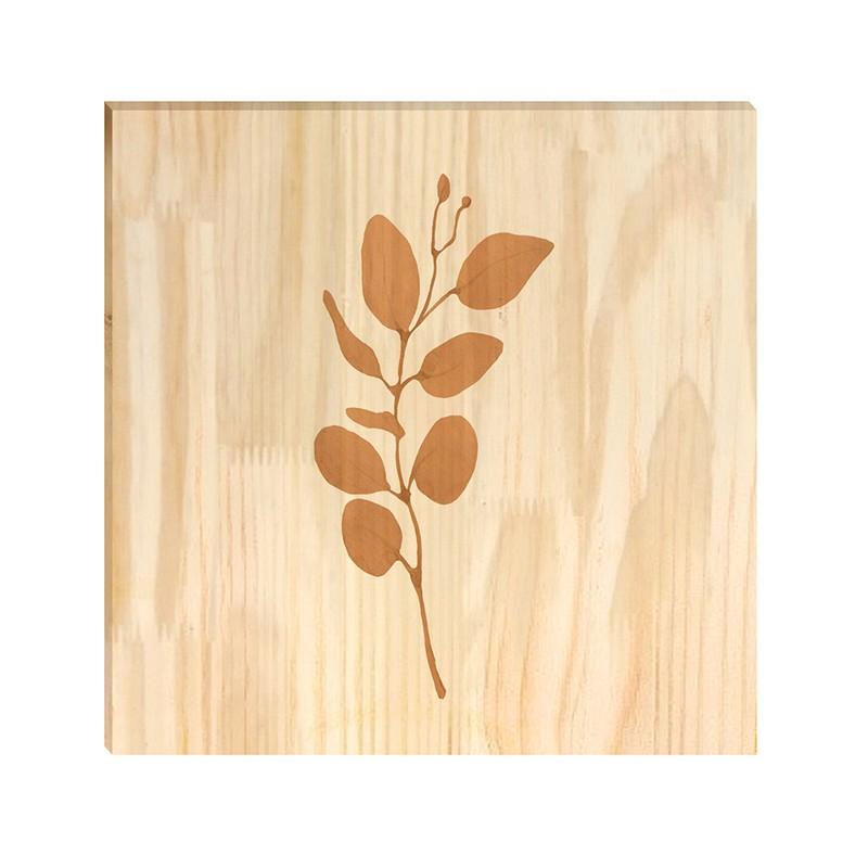 Quadro de Pinus Decorativo Ramos 3 30x30