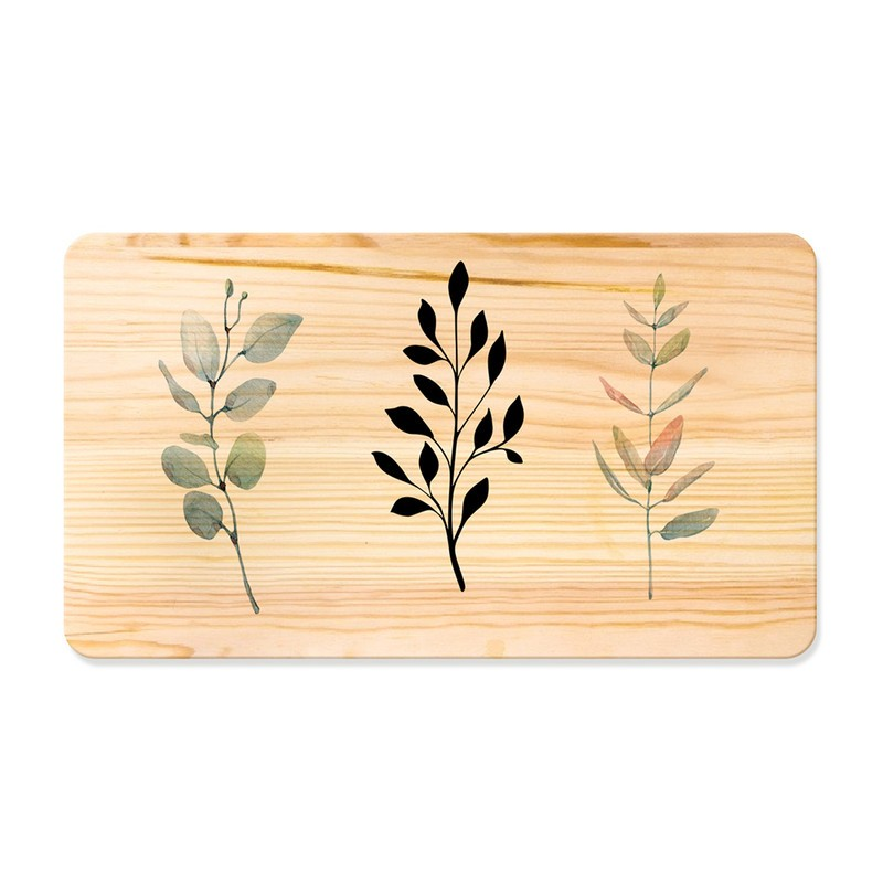 Quadro de Pinus Decorativo Ramos 53x30