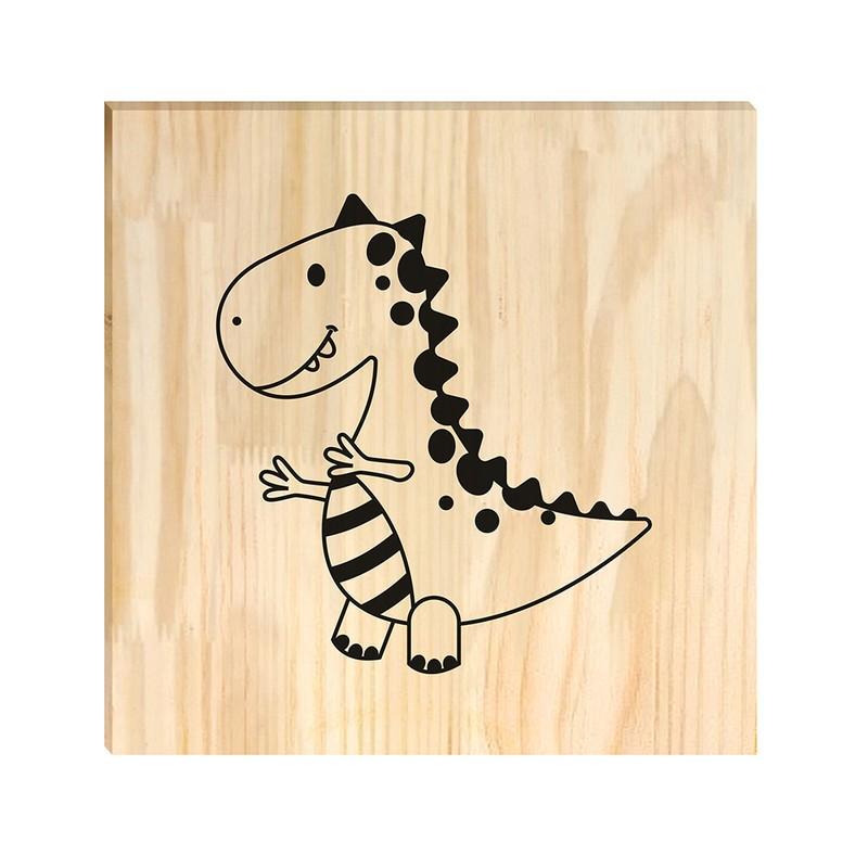 Quadro de Pinus Dinossauro Desenho 30x30
