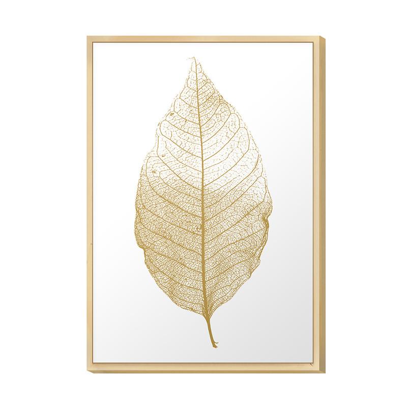 Quadro Decorativo 20x30 Folha Gold Dourado Sala Quarto Cozinha